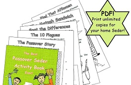 Printable book - The Best Passover Seder Activity Book Ever